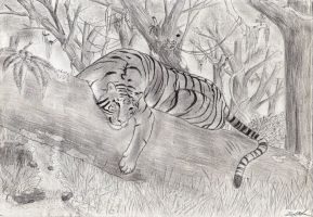 Tiger And The Tree by DejfTheLittleTiger