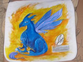 Griffin on a Bag by silverbamboo