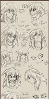 Sketchdump Bakura by Nesuki