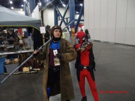 Gambit and Deadpool by DaCommissioner