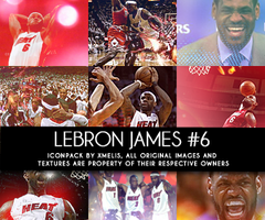 LeBron James 12 Icons by xMelis