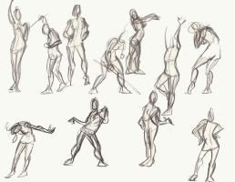 Gestures, female Jan 2009 by Animator-who-Draws