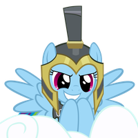 Commander Hurricane Dash on Her Cloud by MrLolcats17