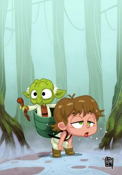 Yoda and Baby Luke by cesarvs