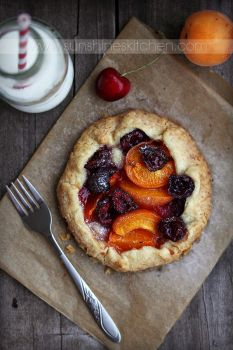 Apricot and cherry galette by kupenska