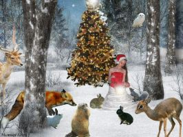 Christmas for animals by Momotte2