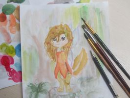 Nina forest fairy. (Watercolor) by MissChipetteOk