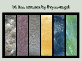 16 Free textures by Lucie-P