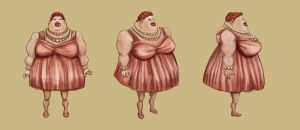 'That D!mned Wine!' Old Lady concept by Calcination