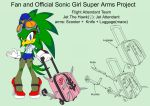 SonicSuperArmsProject JetTheHawkFemale(DesignTest) by skyshek