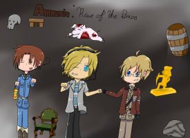 Amnesia:Rise Of The Bros (New Pewdietalia Cover) by Shadiclover
