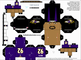 Haloti Ngata Ravens Cubee by etchings13