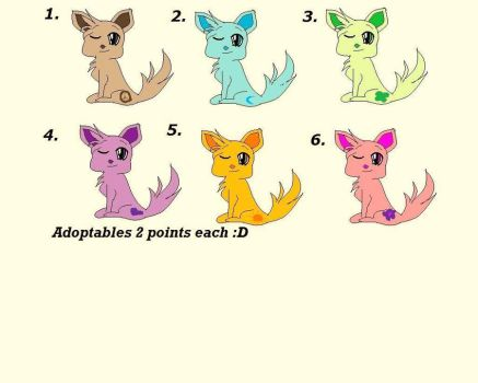 Adoptables for 2 Points by Awesome1168eerz