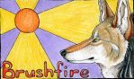 Brushfire conbadge by brushfirewolf