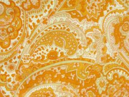 Texture-Orange Paisleys by liz-stock