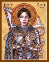 St. Joan of Arc icon by Theophilia