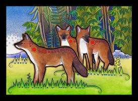 Dholes as Totem by Ravenari