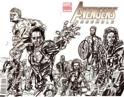 Avengers Assemble 1 Cover IV by joselrodriguesart