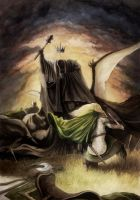 Eowyn and the Nazgul by dannieborg