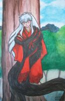 Inuyasha sealed to the Tree of Ages by MistressOfDecay