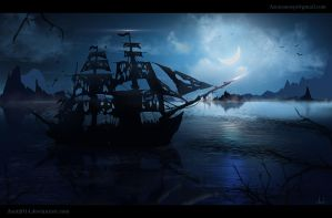Ghost-Ship - speedpainting by Azot2014