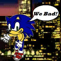 Sonic - We Bad (With BG/Outline) by IceWilliams217