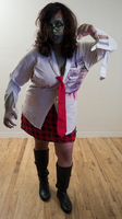 Zombie School Girl 4 by Angelic-Obscura