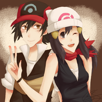 Ash and Dawn by kagomelovesinu
