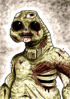 Zombie Slitheen by drwhofreak