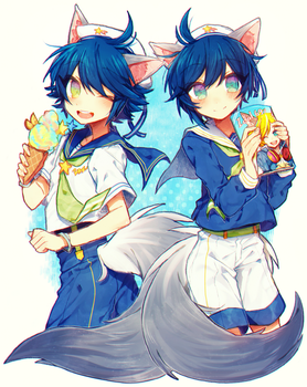 Sailor Twins by Cootypo