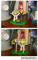 Woody and Buzz in plasticine by Bele-xb7