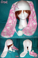 Fleece Ribbon Bunny Hat by WhiteOblivion