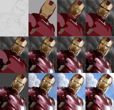 IRON MAN - Tutorial Preview by Sheridan-J