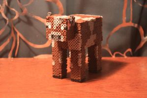 Perler Bead 3-D Minecraft Cow by Puppylover5