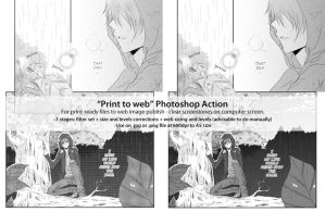 Manga Print to Web PS Action by rainfreak