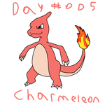 Day 005 Charmeleon by GiygasBandicoot