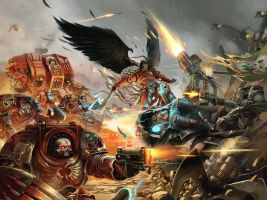 Astorath VS Ghazghkull /// Warhammer fan art by Rez-art