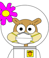 Sandy Cheeks in a Dust Mask by MasterAccount