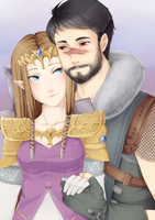 Commission - Zelda and Hawke by AshitaMaya