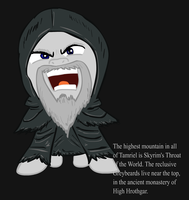 Ponified Skyrim loading screen: Greybeard by glue123