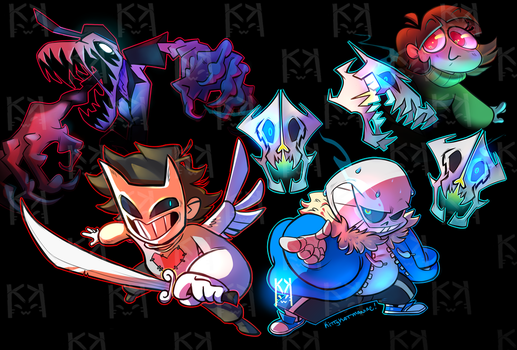 Undertale and Off Crossover by kittykatmaniac