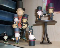 Professor Layton and his sons by kenabe
