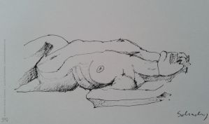 13, laying woman by schachay