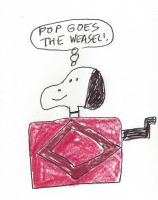 A Snoopy Jack in the Box by dth1971