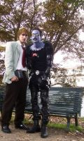 cosplay: light and ryuk by GhoulSoul