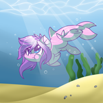 How I became the sea by LoreHoshi