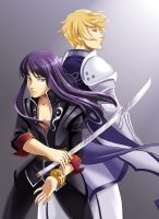 Yuri and Flynn by glance-reviver