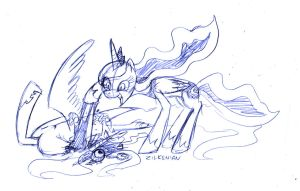 MLP: NOW WHO LOST HER MIND, SISTER???!!! by Zilkenian