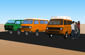 SketchUp Vanagon PaperCraft and Polygons by NezumiYuki