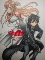 SAO drawing by MasteringAnime